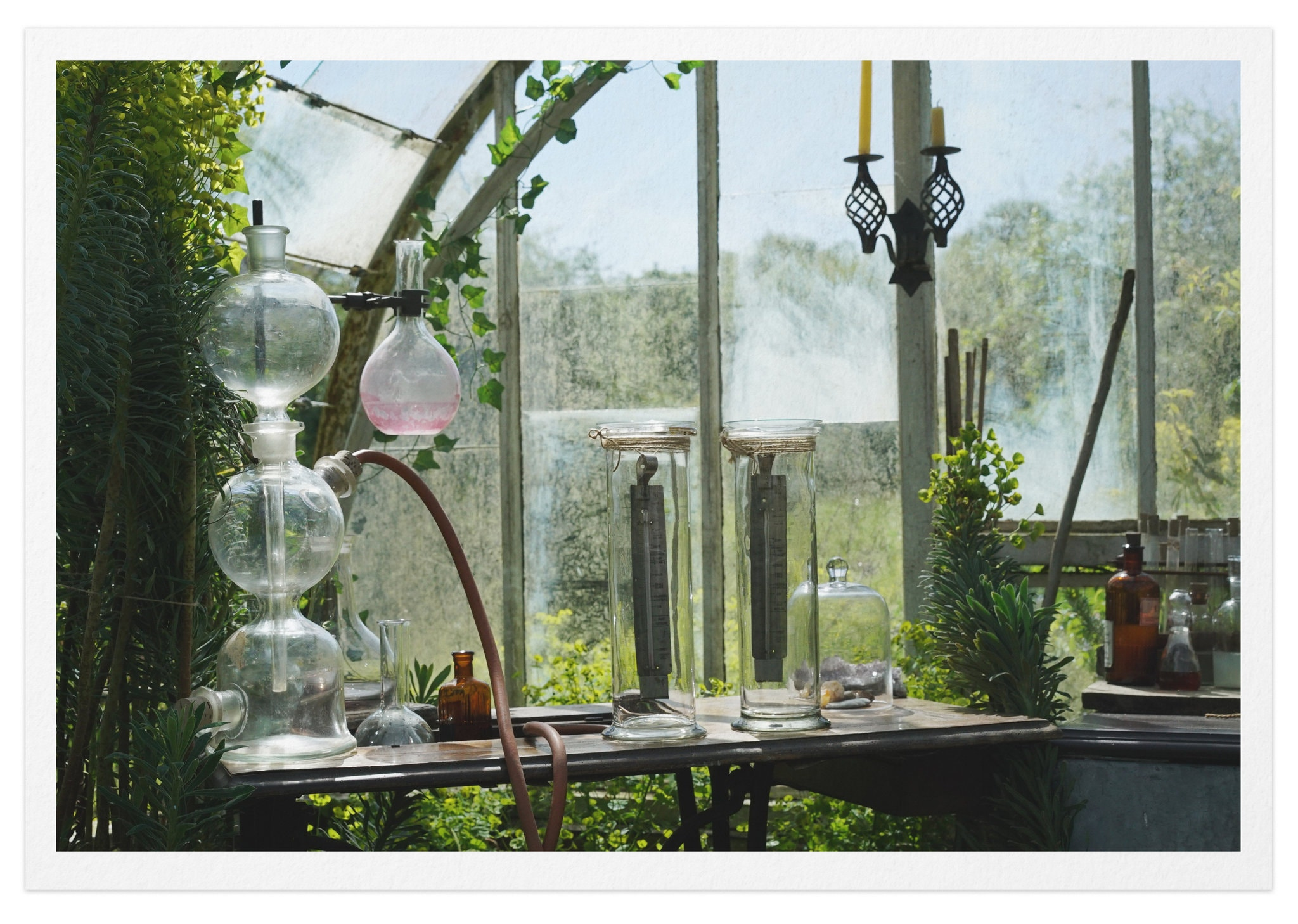 "Eunice Foote's experiment for her studies on greenhouse gases, as recreated in the 2018 short film ""Eunice."" Credit, Paul Bancilhon and Matteo Marcolini"