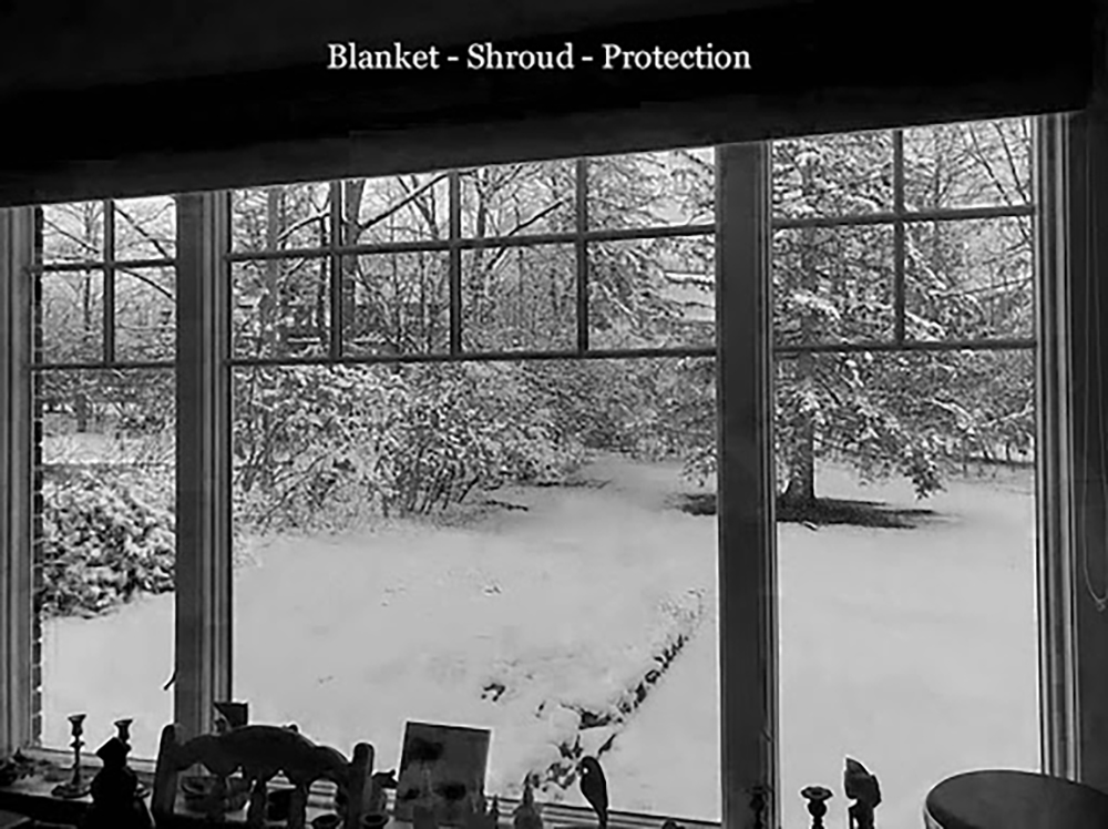 """Blanket - Shroud - Protection"", by Elaine Simms"